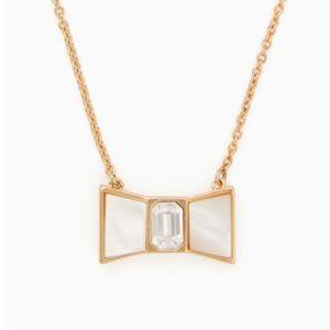 Kate Spade bow shoppe mini pendant gold necklace